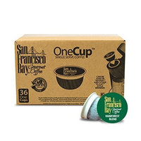 San Francisco Bay Coffee San Francisco Bay OneCup, Organic Rainforest Blend, 36 Single Serve Coffees