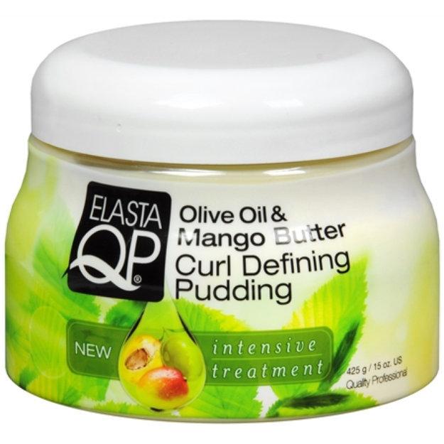 Elasta QP Olive Oil Mango Butter Curl Creme Pudding, 15 oz