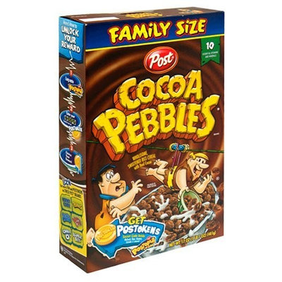 Post Cocoa Pebbles Cereal, 17-Ounce Boxes (Pack of 5)