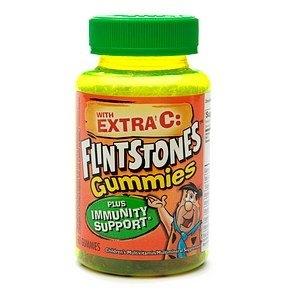 Flintstones Gummies with Extra C Plus Immunity Support Children's Multivitamin