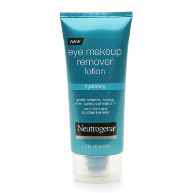 Lotion eye makeup remover