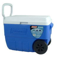 Coleman 56-Quart Wheeled Cooler, Blue