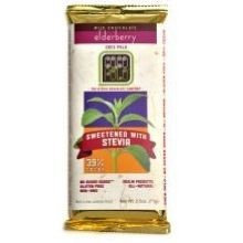 Coco Polo 39% Cocoa Milk Chocolate Bar Sweetened with Stevia Elderberry - 2.5 oz
