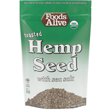 Foods Alive Toasted Hemp Seed with Sea Salt 14 oz - Vegan