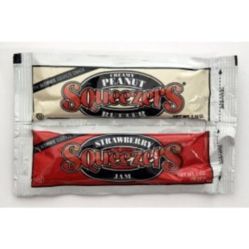 Squeezers® Peanut Butter & Strawberry Jam Combo (Case of 100)