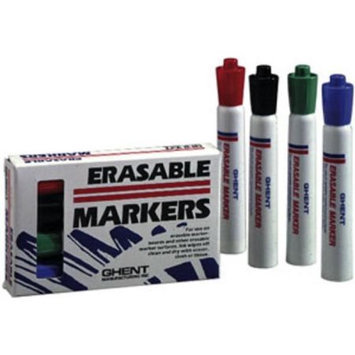 Ghent M4-BK Black Whiteboard Markers - Set of 4