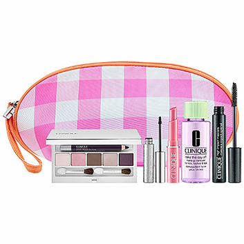 Clinique Pretty In Pinks & Plums Set with Cosmetic Bag