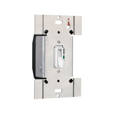 Legrand TradeMaster 600W Electronic Single Pole Switch Preset Toggle Dimmer in Ivory