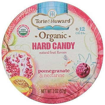 Torie and Howard Organic Hard Candy Tin, Pomegranate and Nectarine, 2 Ounce [Pomegranate & Nectarine]