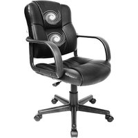 Comfort Products Relaxzen 2-Motor Mid-Back Leather Office Massage Chair