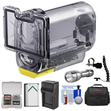 Sony MPK-AS3 Action Cam Underwater Marine Housing Case (197 ft./ 60m) with LED Torch + Bracket + Battery + Charger + Case Kit for HDR-AS15, HDR-AS20, HDR-AS30V, HDR-AS100V Camcorders