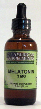 Melatonin 3 mg Alcohol Free No Chinese Ingredients American Supplements 2 oz Liq