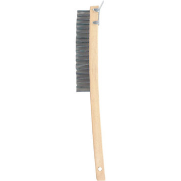 GAM Paint Brushes BW01319 Bent Handle Wire Scraper Brush With Beveled Scraper