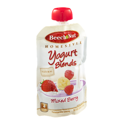 Beech-Nut® Homestyle Stage 4  Yogurt Blends Mixed Berry