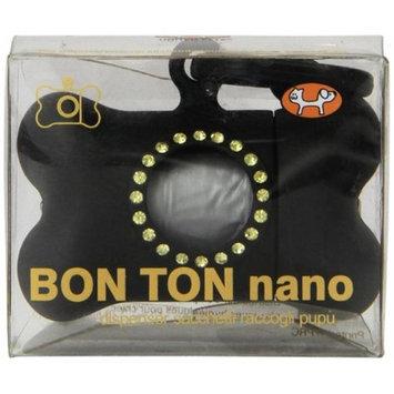 Petego Bon Ton Nano Luxury Bag Dog Waste Dispenser, Black