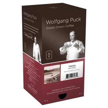 Wolfgang Puck Coffee, Vienna Coffee House, 18-Count Pods (Pack of 3)