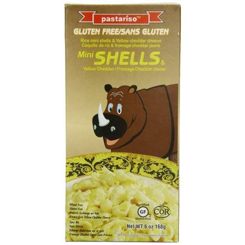 Pastariso Rice Mini Shells and Yellow Cheese (Rhino), 6-Ounce (Pack of 6)