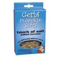 Gerbs Pumpkin Seed Touch Salt Pumpkin Seeds, Gluten-Free 3.5 oz. (Pack of 12)