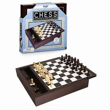 Fundex Ideal Premium Chess Game with Wood Cabinet Storage Box