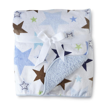 Cuddletime Infant's 2 Ply Valboa Fleece Blanket Stars - TRIBORO QUILT MFG. CORP.