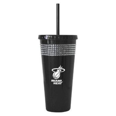 Boelter Brands NBA 2 Pack Miami Heat Bling Straw Tumbler - Black (22