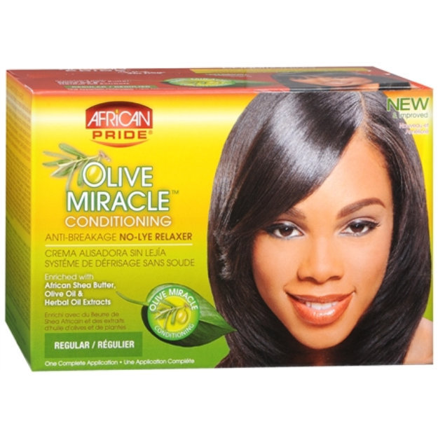 African Pride Olive Miracle Conditioning Anti Breakage Hair Relaxer