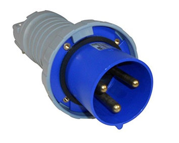 Thomas & Betts ABB Russelstoll ABB4125P6W IEC Plug 125A 3P 4 Wire 380-415V 3 Phase Pin & Sleeve