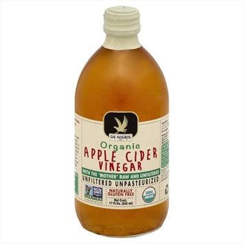 De Nigris 500 ml. Organic Unfiltered Apple Cider Vinegar Case Of 6