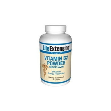 Life Extension, VITAMIN B2 30 GRAMS POWDER