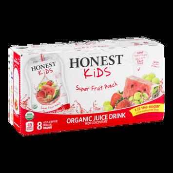 Honest Kids Organic Juice Drink Pouches Super Fruit Punch - 8 CT