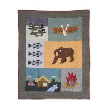 Patch Magic Cabin Bear Crib Quilt