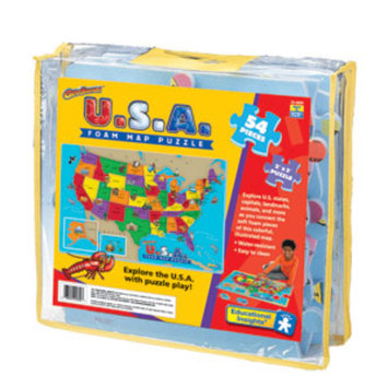 Educational Insights USA Foam Map Floor Puzzle Ages 5+