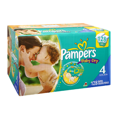 Pampers Baby Dry Size 4 Sesame Street Diapers - 128 CT