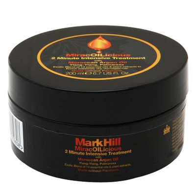 Mark Hill MiracOILicious 2 Minute Intensive Treatment with Moroccan Argan Oil, 6.7 fl oz