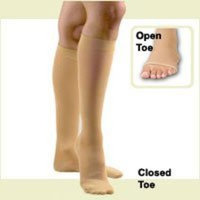 Activa Surgical Weight 30-40 mmHg Knee High Open Toe Socks, Beige, X-Large, 0.03 Pound