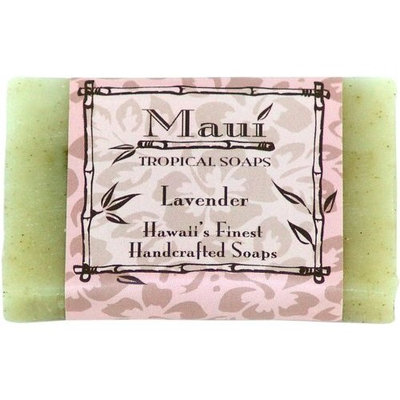 Maui Tropical Soaps Hawaiian Guest Soap Lavender Blossom, 1.5-Ounce (Pack of 4)