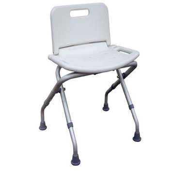 Drive Medical Folding Bath Bench with Back with Adjustable Legs