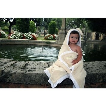 MIA Plush Hooded Bath Towel-Yellow
