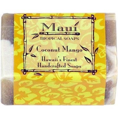 Maui Tropical Soaps Traditional Hawaiian Soap Coconut Mango, 5-Ounce (Pack of 3)