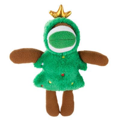 Grreat ChoiceA Pet HolidayTM Tree Sock Monkey Dog Toy