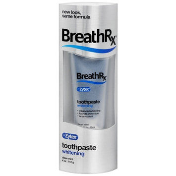 Breath Rx Toothpaste, Whitening Formula, Clean Mint, 4 oz