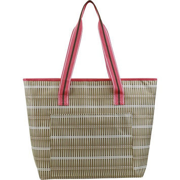 All For Color Khaki Rattan Cooler Tote