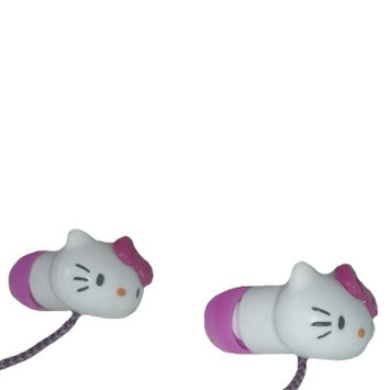 Sakar Hello Kitty In-Ear Earbuds with Pouch - Pink/White (HK-11809-A)