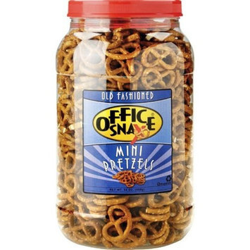 Office Snax Mini Pretzel Twists, 24-Ounce Tubs (Pack of 3)