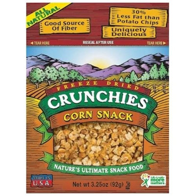 Crunchies Freeze-Dried Corn Snack, 3.25-Ounce Pouches (Pack of 6)