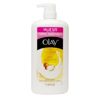 Olay Ultra Moisture Body Wash, Shea Butter, 34 fl oz
