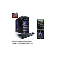 CybertronPC 5150 Unleashed IV TGM1224D Gaming PC - AMD FX-6300 3.5GHz, 8GB DDR3, 1TB HDD, DVDRW, 1GB Radeon R7 260X, WiF