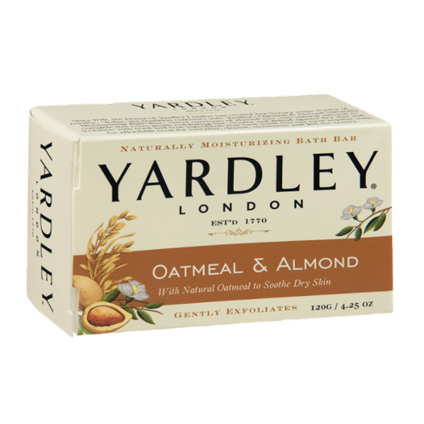 Yardley London Oatmeal & Almond Naturally Moisturizing Bath Bar