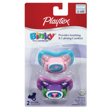 Playtex Binky Silicone New Born Pacifier, 2 ea