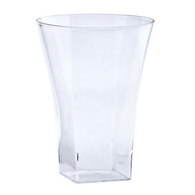 King Zak Ind Lillian Tablesettings 12045 Clear 10 Oz Plastic Flared Tumbler - 240 Per Case